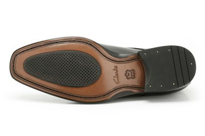 Mens Formal Shoes - Dexie Over in Black Leather from Clarks shoes