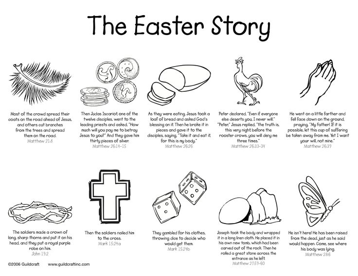 Easter Story Printable.. in case I can't find the piece that is lost from our craft sheet!!
