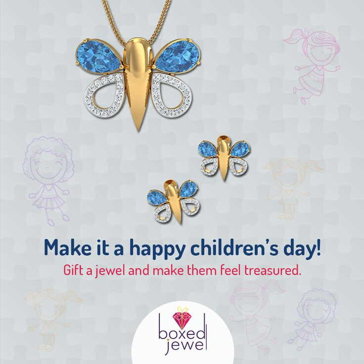 Gift your little ones the cutest jewels. A Very Happy Children's Day to all the small shining wonders out there. www.boxedjewel.com