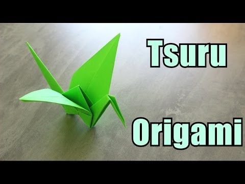 Como fazer um Tsuru (crane) - Origami - YouTube