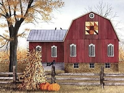 Billy Jacobs Autumn Leaf Quilt Block Barn