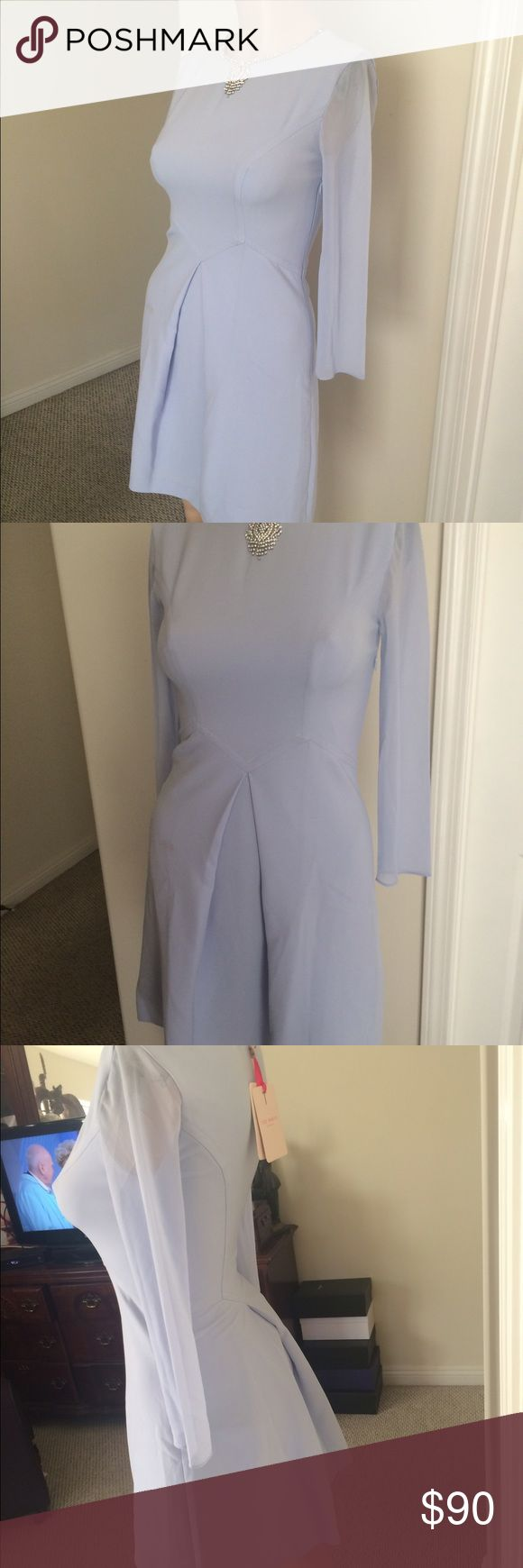 Ted Baker Dress NWT Light Blue Night Out Dress Ted Baker Dresses Long Sleeve