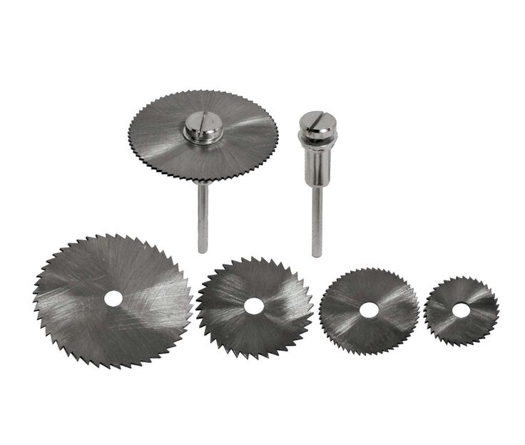 SE SS45HS 5-Piece High-Speed Steel Saw Blades Set with 2 Mandrels