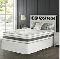 Night Therapy Set Spring 14 Inch Fusion Gel Memory Foam Hybrid Mattress and SmartBase Bed Frame - queen