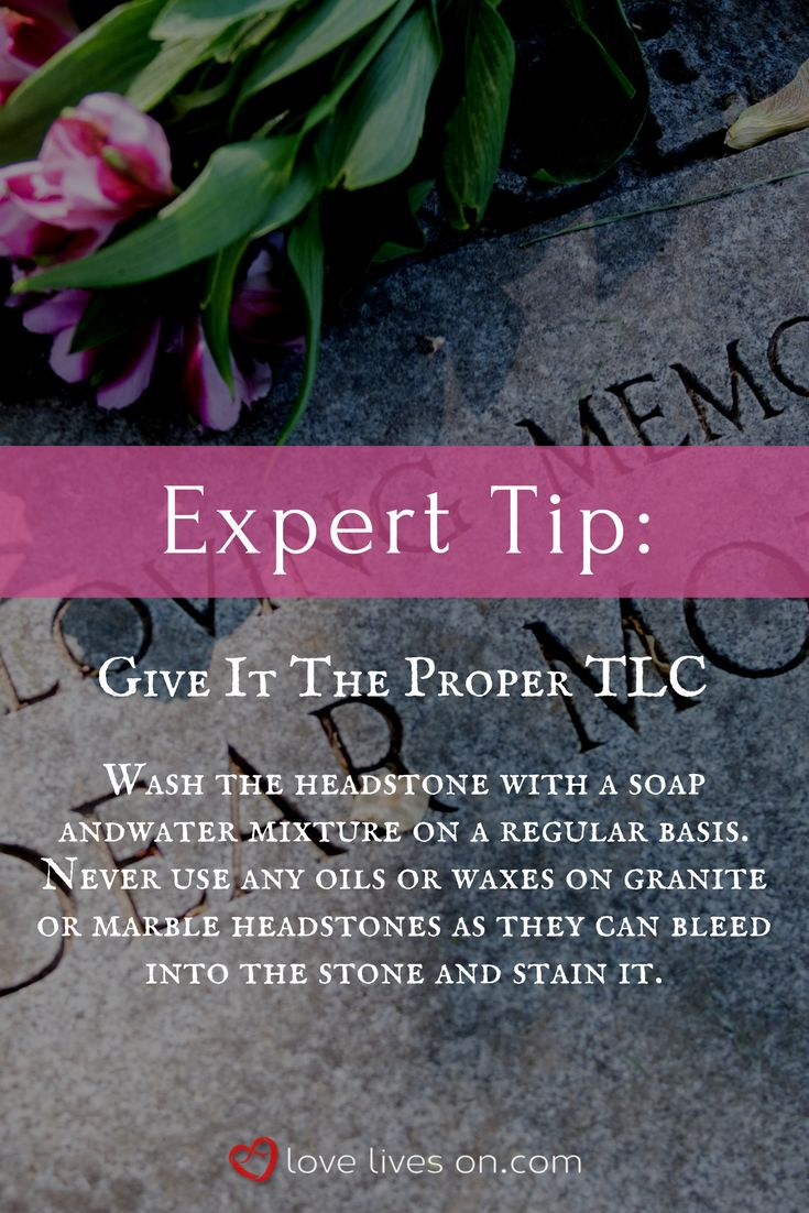 how to clean marble grave markers