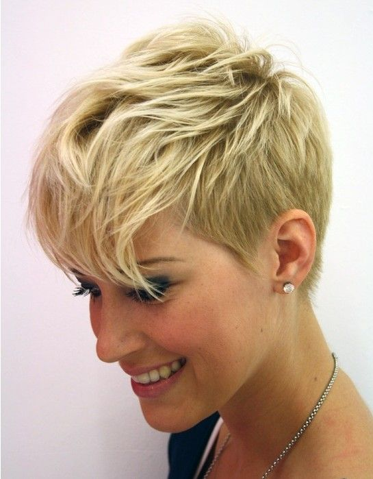 curly haircuts with bangs layered pixie cut 2015 kurzhaarschnitt fransen 5962