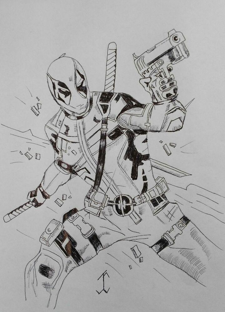 ComicDeadpool2 #comic #drawing #draw #pen #art #deadpool #movie #marvel #marvelcomic