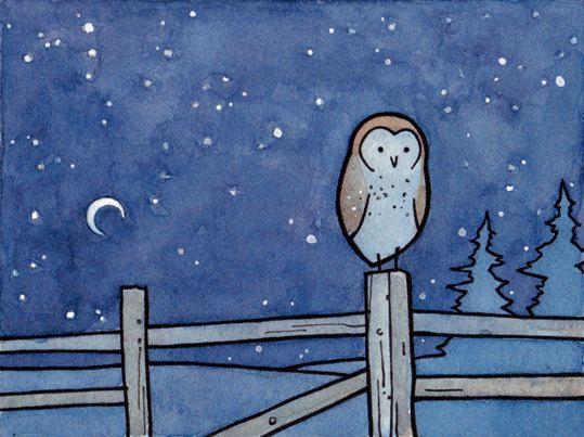 The Silent Owl di Toni su Etsy