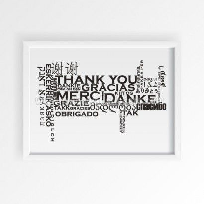 Thank You Poster - Moon Wall Stickers