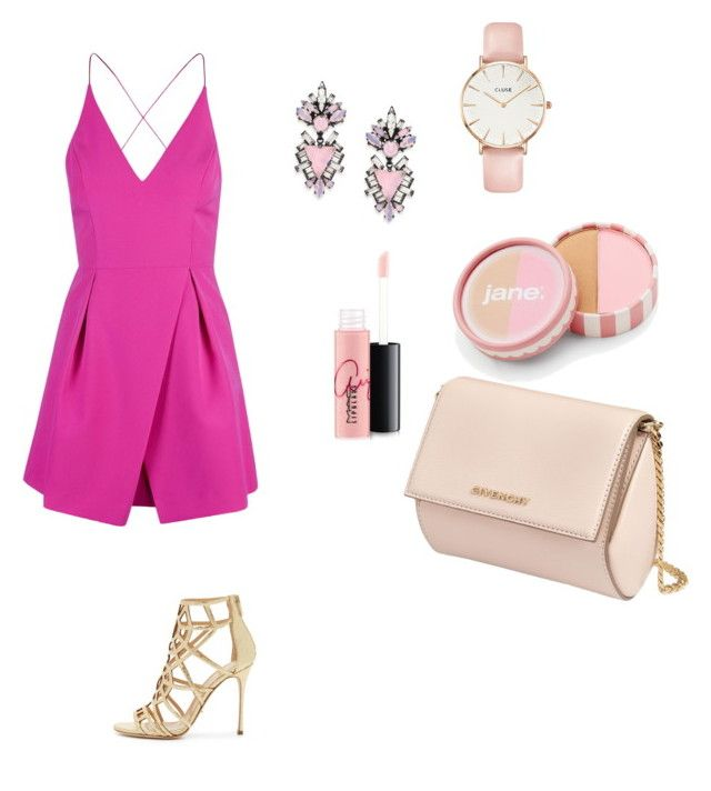 """""""h.k"""" by hanika15 on Polyvore featuring мода, Topshop, Sergio Rossi, Givenchy, Erickson Beamon, CLUSE, MAC Cosmetics и jane"""