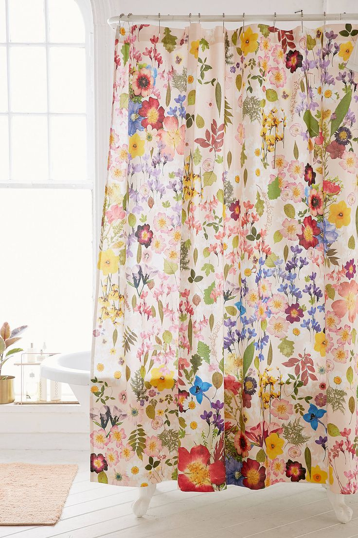 best  floral shower curtains ideas on pinterest  white sink  - pressed flower shower curtain