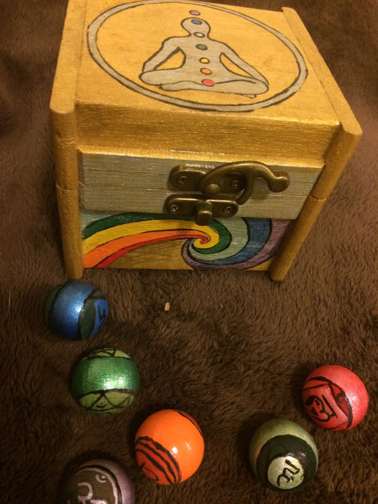 Chakra Meditation Box by WyrdWytchWayz on Etsy