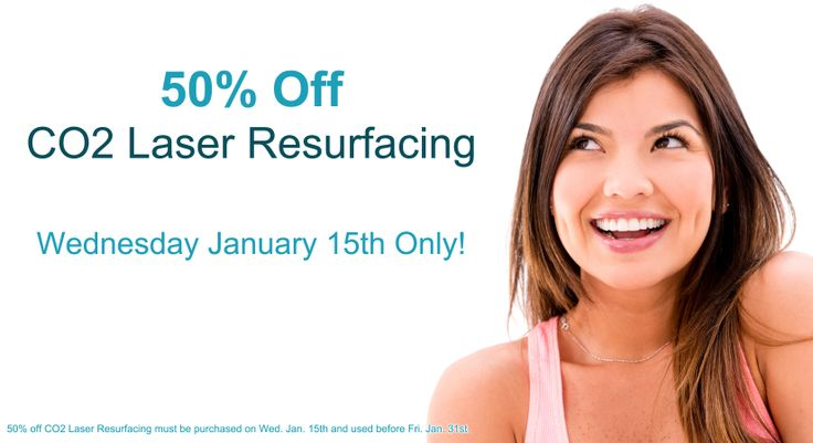 50% off CO2 Laser Resurfacing this Wednesday January 15th! Don't miss out on this one-day-only sale from AH Laser Aesthetics! 50% Off CO2 Laser Resurfacing must be purchased on Wednesday January 15th and used before Friday January 31st.