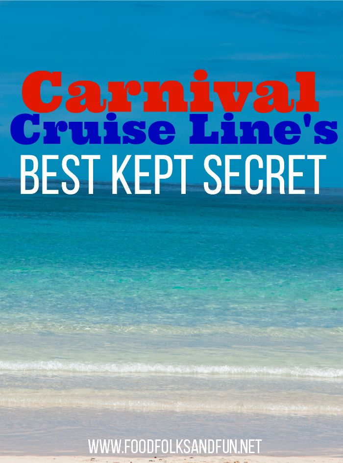 Carnival Cruise Line's Best Kept Secret – Here's a hint, foodies will LOVE it! | Vacation | Foodie Trips | Carnival Cruise Line @carnivalcruise