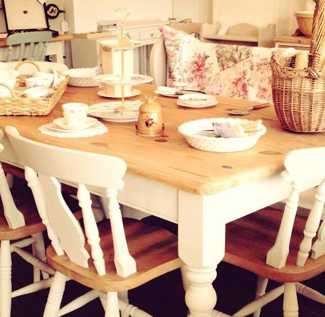 We can source a range of farmhouse tables, chairs and pews to meet your requirements and colour choice, painted in Annie Sloan Chalk Paint www.facebook.com/rosielovesvintagehayling