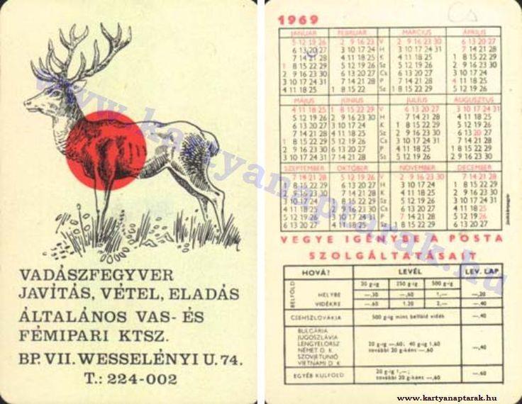 1969 - 1969_0312 - Régi magyar kártyanaptárak