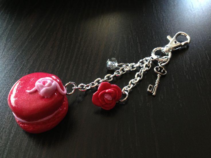 1er test Fimo :) bijoux de sac macaron.