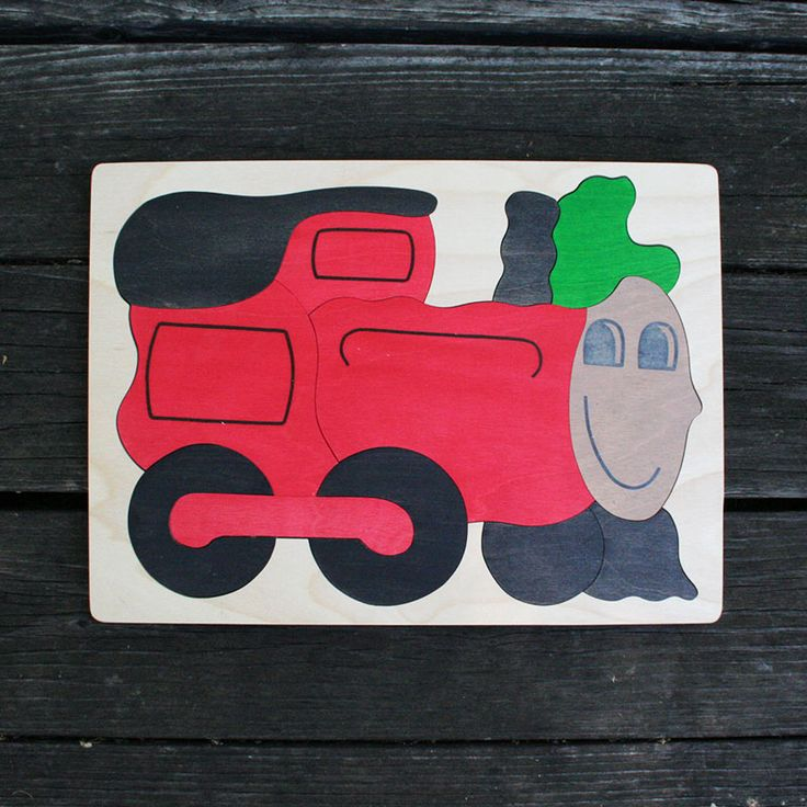 Train Wooden Puzzle - 12 pieces puzzle great for kids ages 2-3