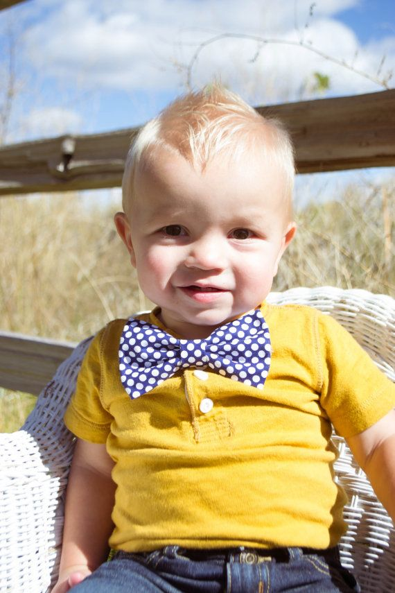 Little boy Bow tie or little girl hair bow Sailor by Babybeelane, $7.95