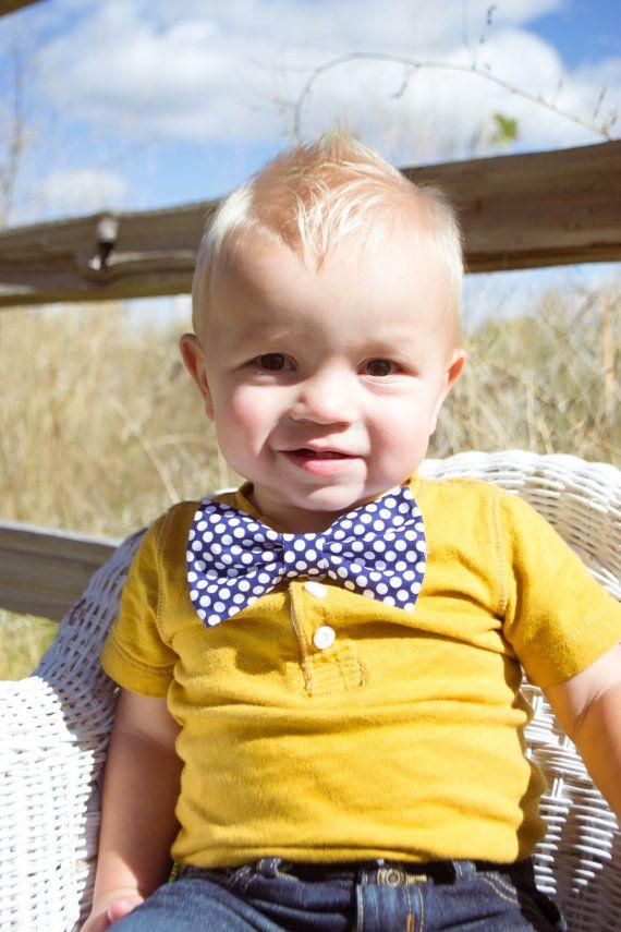 Little boy Bow tie or little girl hair bow Sailor by Babybeelane, $7.95