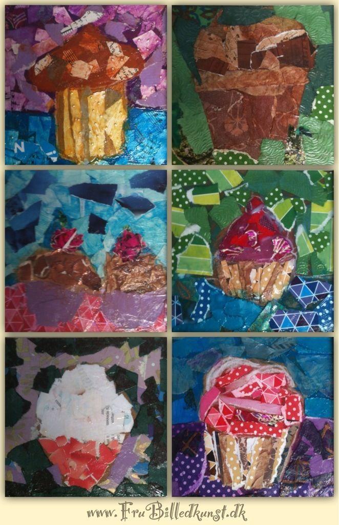 4.klasse har tidligere arbejdet med cupcakes med inspiration fra Wayne Thiebaud. Jeg ville gerne have børnene til at arbejde med samme motiv men med et nyt materiale. Inden vi gik i gang så vi på a…