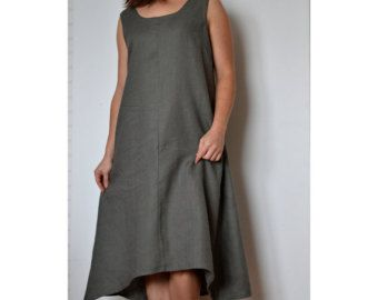Linen summer dress Sleeveless dress Linen dress Beach