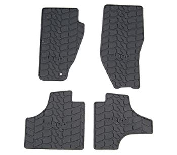2008-2010 JEEP LIBERTY SLUSH FLOOR MATS FRT & RR GENUINE MOPAR ACCESSORY #Motors #Parts #Accessories #82210784AB