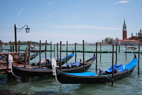 Bobbing Gondolas of Venice, Italy