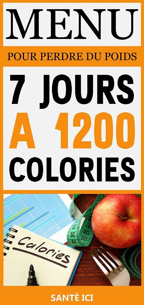 Le régime 1200 calories pour perdre 2 kilos par semaine #..