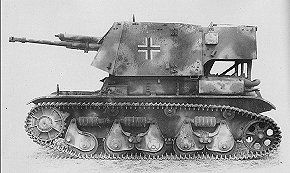 A 4.7cm PaK gun mounted on a French Renault 35.R chassis is classified as a Beute Panzer example