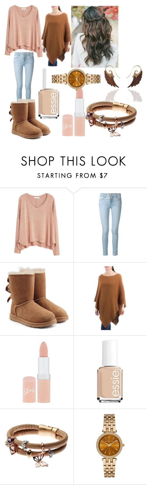 """Casual Winter Outfit"" by melissa-h-14 ❤ liked on Polyvore featuring MANGO, Frame Denim, UGG Australia, NOVICA, Rimmel, Essie, Adele Marie, Michael …"