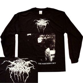 Official long sleeve shirt from Norwegian black metal band Darkthrone featuring Blaze In The Northern Sky design on front and back. Available now from the www.HeavyMetalMerchant.com online store!