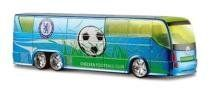 """Chelsea FC Team Bus - Great Gift Idea by Chelsea F.C.. $24.95. This cool model bus will grace the desk or shelf of all Chelsea fans !. Measures 8"""" x 2"""" x 2"""". Official Licensed Product. Custom wheels and rim and fully detailed interior. Replica Team Bus, with die-cast body and fully decorated in official Team Crest & Colors. This Stylish Team Bus makes an original gift idea for all Chelsea Fans and a great collectible for all Soccer fans ! Save $10 now with today's close-out price !"""