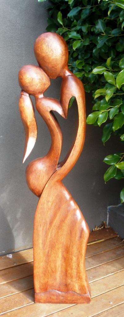 Large loving couple statue woodcarving www.balimystique.com.au