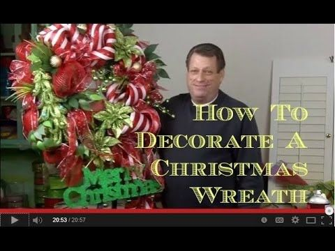 How To Decorate An Artificial Christmas Wreath - Watch ad follow along as I decorate an artificial Christmas wreath.