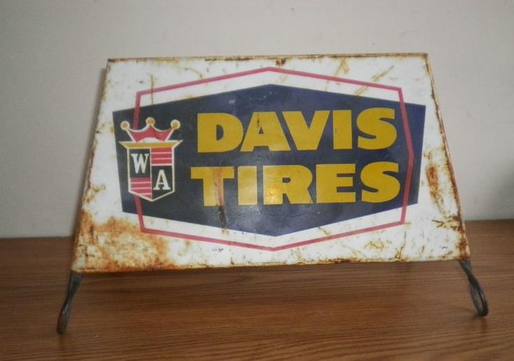 Man Cave Signs Canadian Tire : Davis tires tire holder sign advertising memorabilia