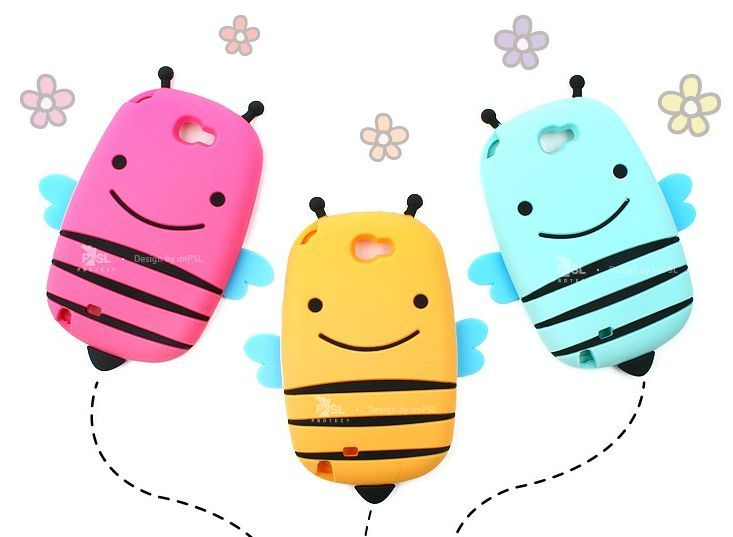Cute Smile Honey Bee Case for Galaxy Core Advance