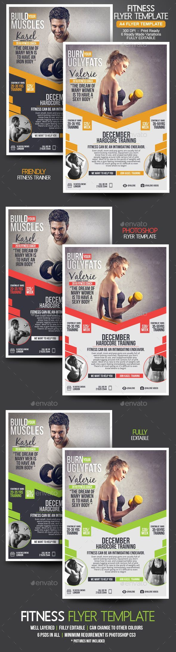 Fitness Flyer by BloganKids Fitness Flyer Are you a fitness trainer? This is an amazing work. A fitness coach can shape a person body, he can make someone loo