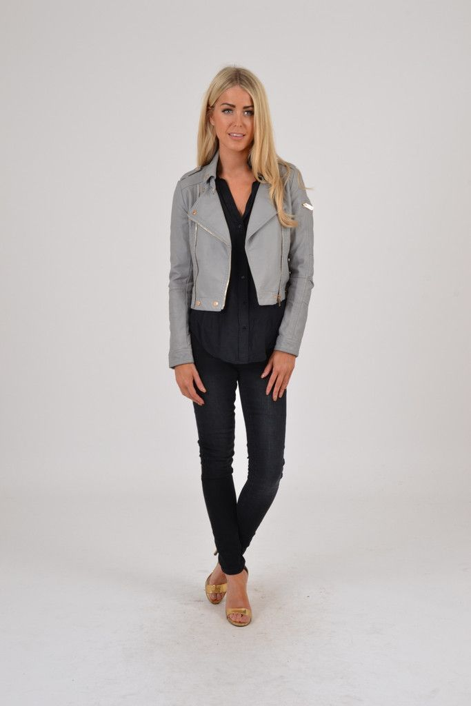 Order now Grey Leather Jacket at www.bunglesclothing.com
