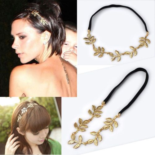 Fashion-Women-Elastic-Golden-Leaves-Hairband-Leaf-Headband-Hair-Rope-Necklaces