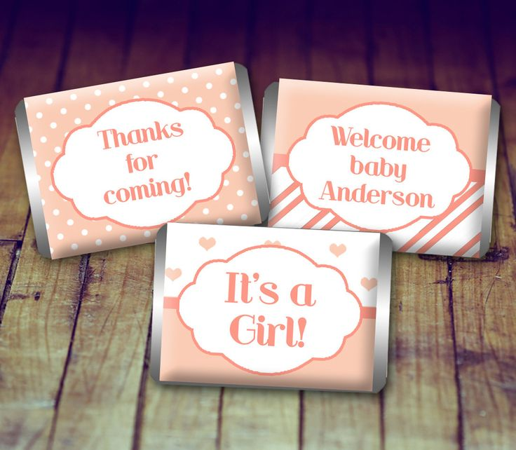 A personal favorite from my Etsy shop https://www.etsy.com/ca/listing/479404402/mini-candy-wrapper-baby-baby-shower-girl