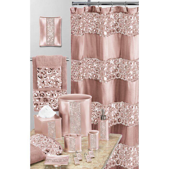 Irie Striped Single Shower Curtain In 2020 Pink Bathroom Decor