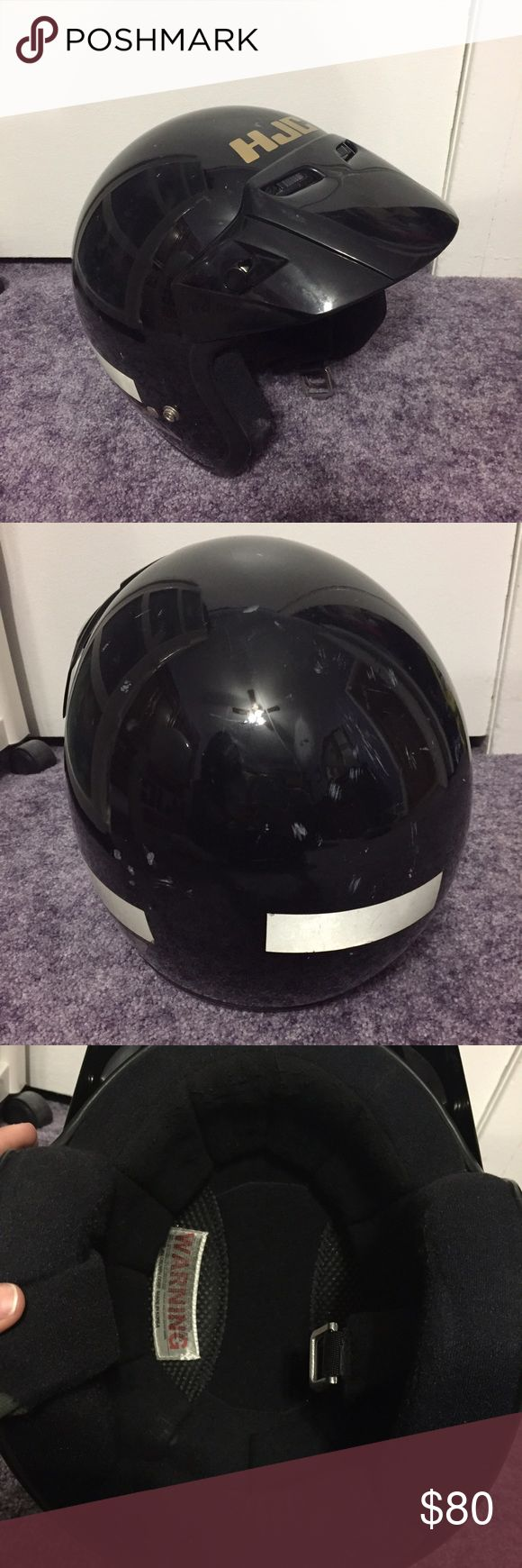 Motorcycle helmet with visor and shield Motorcycle helmet with visor and shield, size XL, shield Is brand new in package hjc Accessories