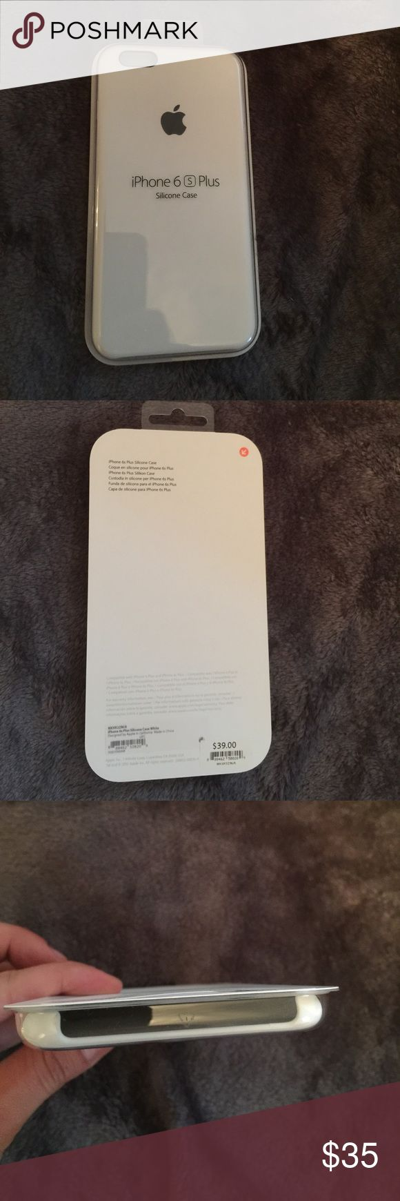 Apple iPhone 6 s plus silicone case. Brand new in box apple case. Ended up getting different phone and have no use for it. Bought it at the Apple Store. Apple Accessories Phone Cases