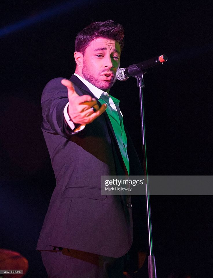 Duncan James of Blue performs on stage at BIC on March 27 2015 in Bournemouth United Kingdom
