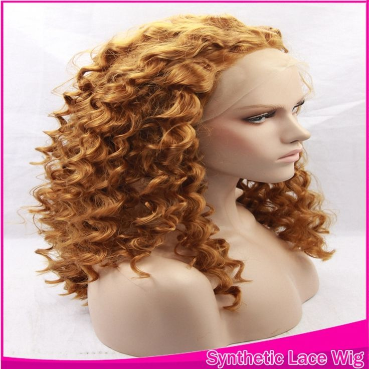 32.67$  Watch here - http://aiw8m.worlditems.win/all/product.php?id=32709222982 - Cheap Many Color Available Kinky Curly Synthetic Lace Front Wig Dark Brown Cosplay Wigs Peruca Heat Resistant Glueless For Women