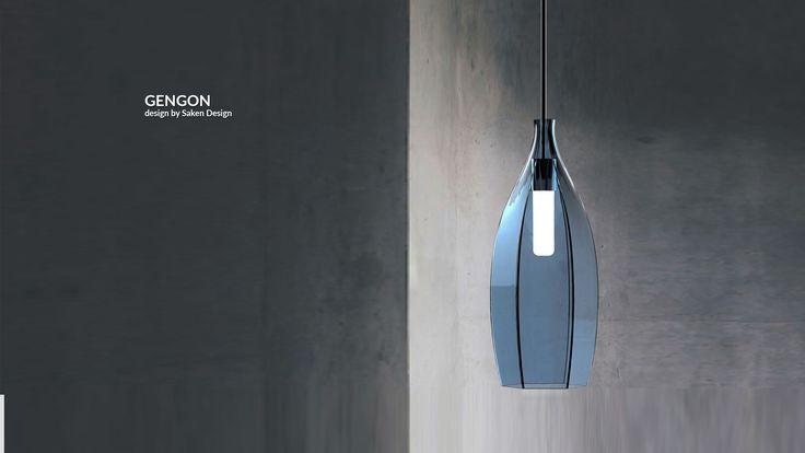Çokgen formlu, sarkıt lamba.     Polygon formed pendant lamp.  #lighting #design #glass #saken #productdesign #lightingdesign #aydinlatma #tasarım #ürün #pendant