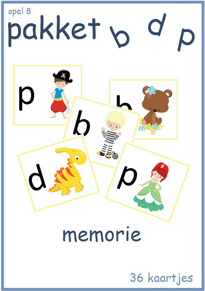 Prachtig memoriespel met de letters b,d en p