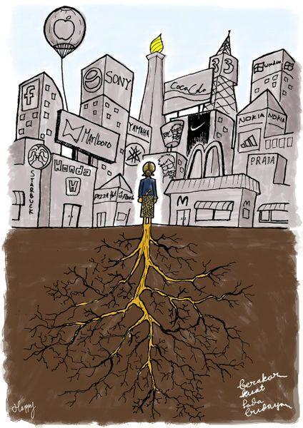 Poster tentang globalisasi dinegeri ini