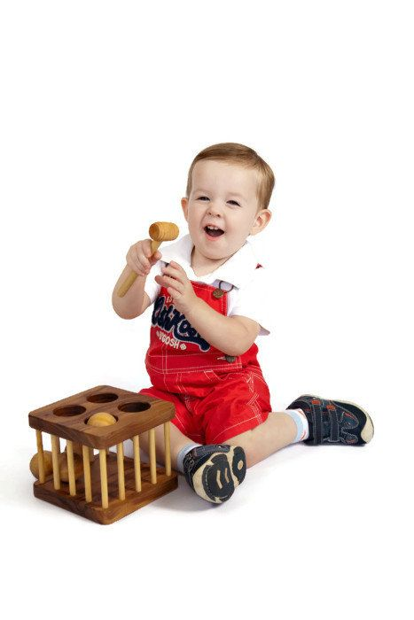18 Month Old Toys For A Ball : Hammer toy wooden and ball montessori by